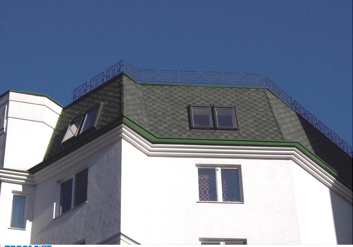 Битумни керемиди BARDOLINE® ПРО S125 ХЕКСА - зелен