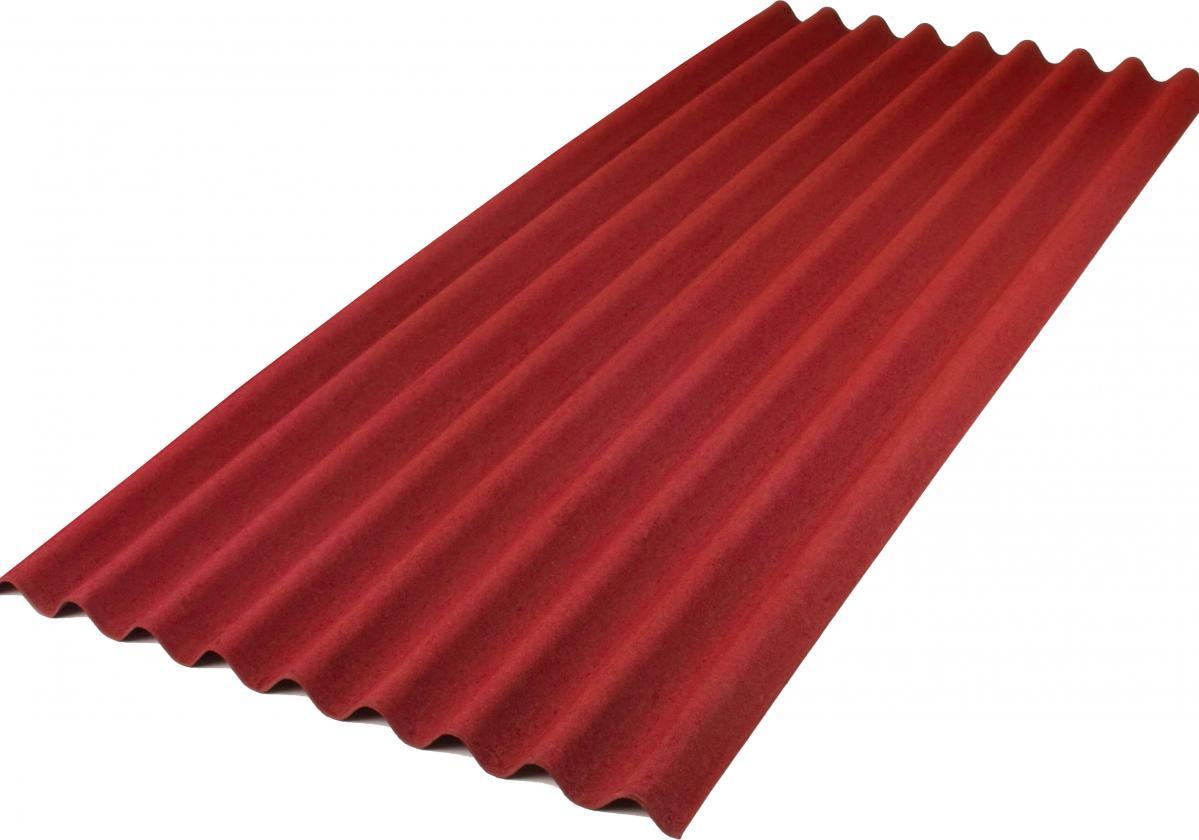 ONDULINE® БЕЙС- червен І Вълнообразен покривен лист